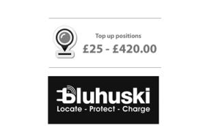 Bluhuski GPS tracking Top up