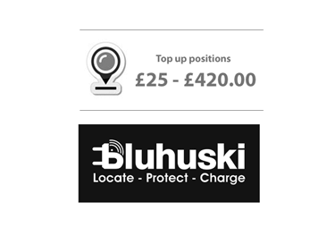 Bluhuski GPS tracking Top up