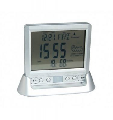 Digital clock with spy camera